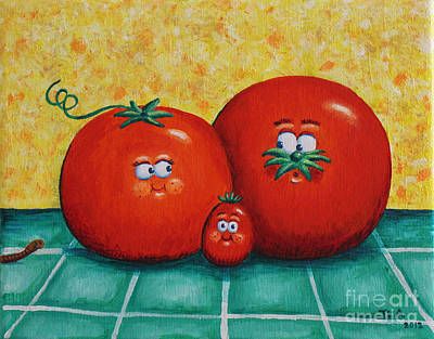 Tomato Family Portrait Original by Jennifer Alvarez