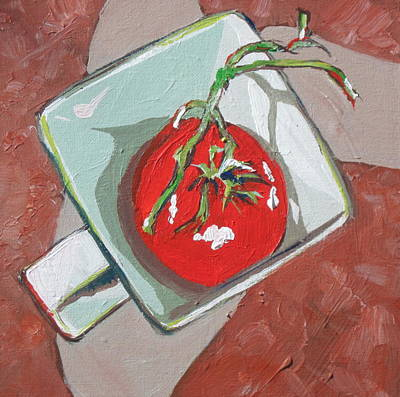 Painting - Tomato In A Cup by Sandy Tracey