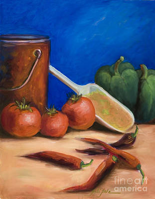 Painting - Tomatoes And Peppers by Pati Pelz