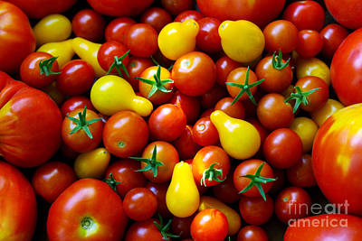 Cornucopia Photograph - Tomatoes Background by Carlos Caetano
