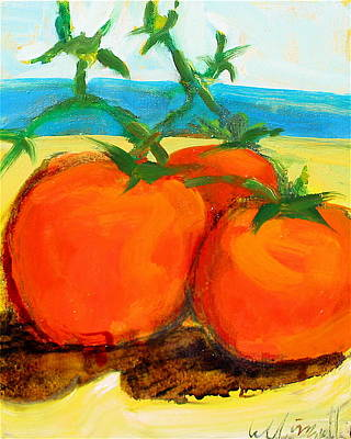 Painting - Tomatoes On The Beach by Les Leffingwell