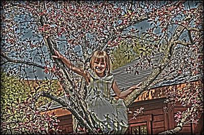 Tomboy Photograph - Tomboy In The Tree by Randall Branham