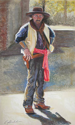 Pastel - Tombstone Cowboy by Carole Haslock