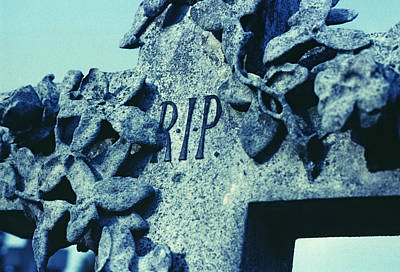 R.i.p Photograph - Tombstone by Kevin Curtis