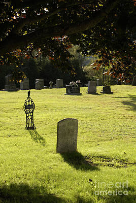 Photograph - Tombstones Kingston Cemetery New Brunswick by John  Mitchell