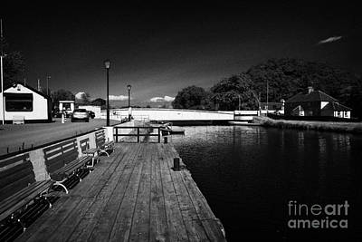 Caledonian Canal Photograph - Tomnahurich Bridge Over The Caledonian Canal Inverness Highland Scotland Uk by Joe Fox