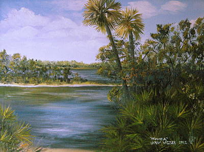 Painting - Tomoka by Larry Whitler