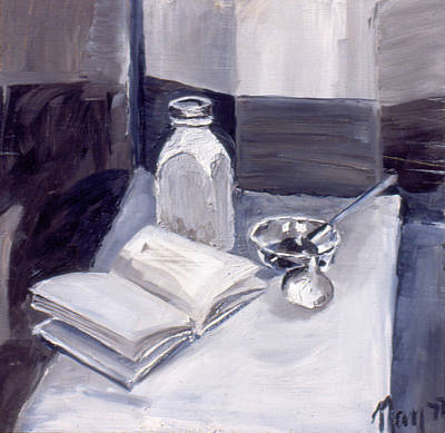 Painting - Tonal Still Life 1977 by Nancy Griswold