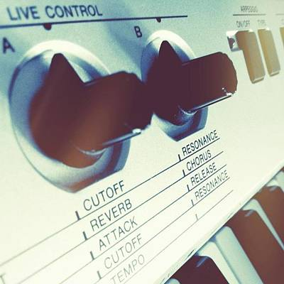 Instrument Wall Art - Photograph - #toner #live #control #keyboard by Rena Thdreamer