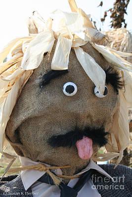 Photograph - Tongue  Tie Scarecrow Affair by Susan Herber