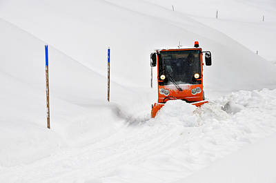 Photograph - Tons Of Snow - Winter Road Clearance by Matthias Hauser