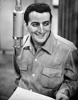 Crooner Photograph - Tony Bennett, C. 1954 by Everett