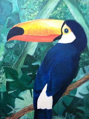 Robert Schmidt Painting - Tony The Toucan by Robert Schmidt