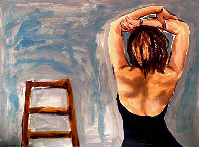 Wall Art - Painting - Tonya With Chair by Clayton Singleton