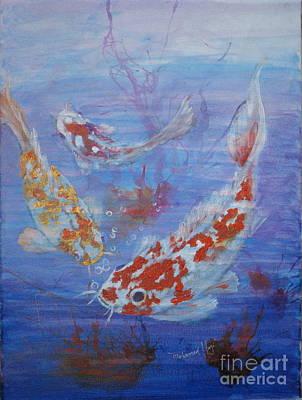 Fish Underwater Painting - Too Koi by Mohamed Hirji