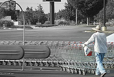 Art Print featuring the photograph Too Many Carts by Renee Trenholm