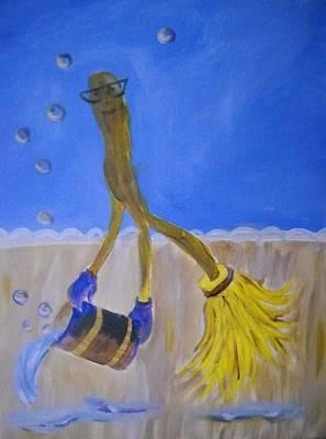 Too Much Soap Art Print by Marian Hebert
