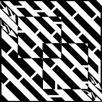 Yonatan Drawing - Too Two Square Maze by Yonatan Frimer Maze Artist