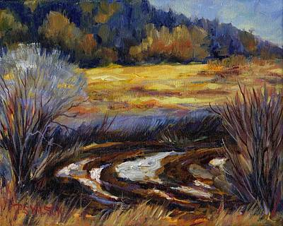 Meadow Willows Painting - Too Wet To Plow by Peggy Wilson