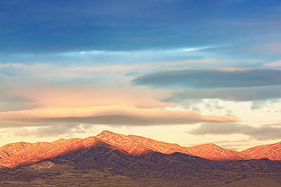 Tooele County Mountains At Sunrise Art Print by Tracie Kaska