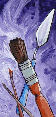 Painting - Tools Of The Trade by Sandy Tracey