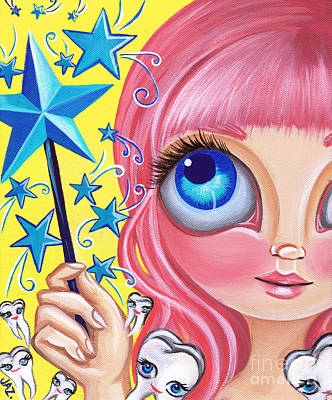 Faery Artists Painting - Tooth Fairy by Jaz Higgins