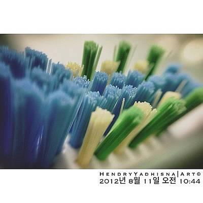 Brush Photograph - #toothbrush #brush #dental  #한국 by Hendry Yadhisna