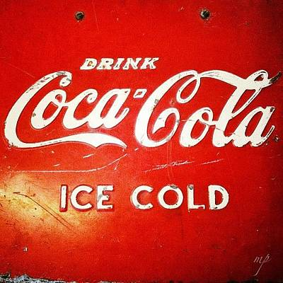 Drink Wall Art - Photograph - Top Of An Old Coke Fridge by Maury Page