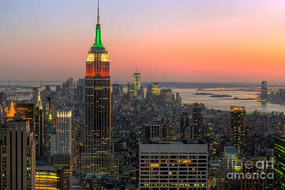 Top Of The Rock Twilight X Art Print by Clarence Holmes
