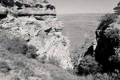 Photograph - Top Of The South Kaibab Trail Bw by Julie Niemela