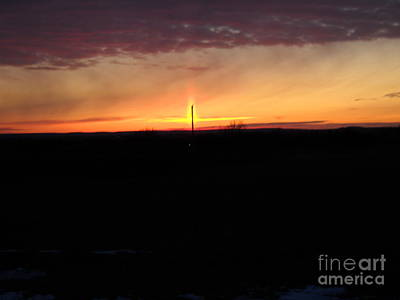 Art Print featuring the photograph Topeka Sunset by Mark McReynolds