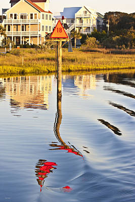 Topsail Sound Sunset Art Print by Betsy Knapp