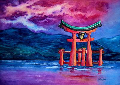 Shinto Temple Painting - Tori-iru by Brazen Edwards