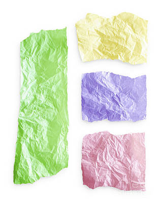 Torn Colorful Paper Art Print by Blink Images