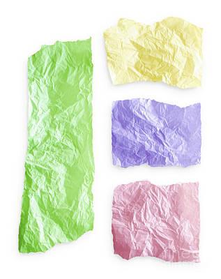Torn Colorful Paper Art Print