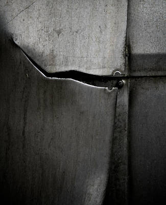 Metal Sheet Photograph - Torn Curtain by Odd Jeppesen