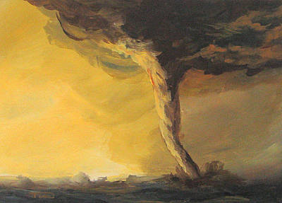 Storm Clouds Painting - Tornado IIi by Torrie Smiley