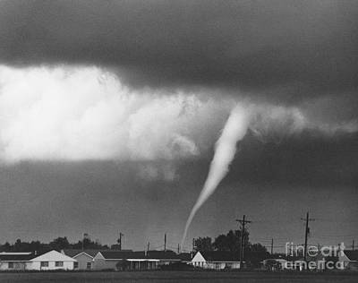 Photograph - Tornado In Indiana by David Petty and Photo Researchers