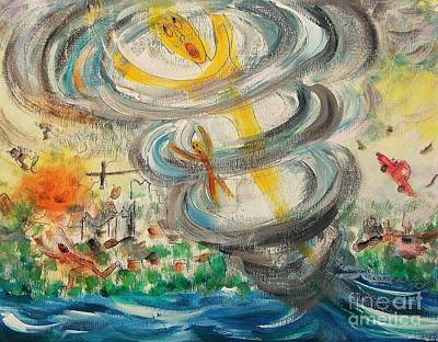 Painting - Tornado by Suzanne  Marie Leclair
