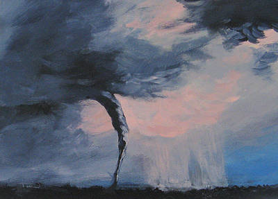 Storm Clouds Painting - Tornado Vii by Torrie Smiley