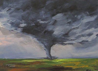 Storm Clouds Painting - Tornado Viii by Torrie Smiley