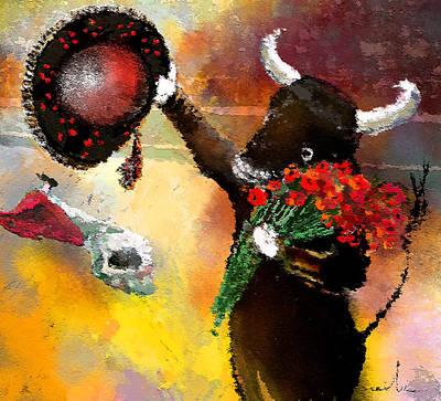 Toro Bravo Art Print by Miki De Goodaboom