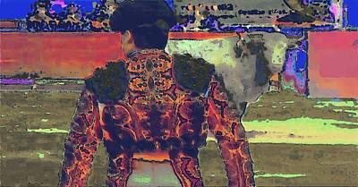 Bullfight Digital Art - Toro by Rod Saavedra-Ferrere