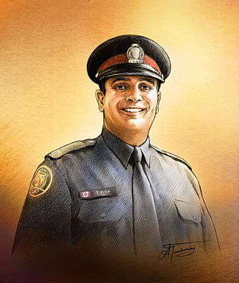 Painting - Toronto Police Constable Tony Vella by Alex Tavshunsky