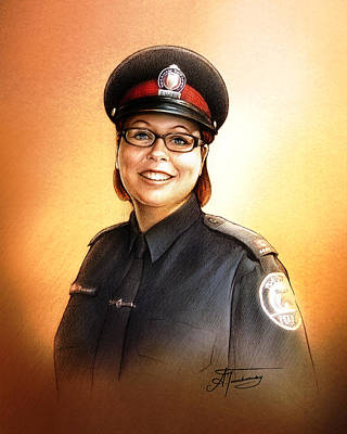 Painting - Toronto Police Constable Wendy Drammond by Alex Tavshunsky