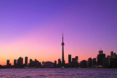 Toronto Purple Skyline Art Print by Aqnus Febriyant