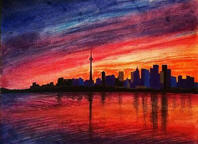 Toronto Skyline Art Print by Fariz Kovalchuk