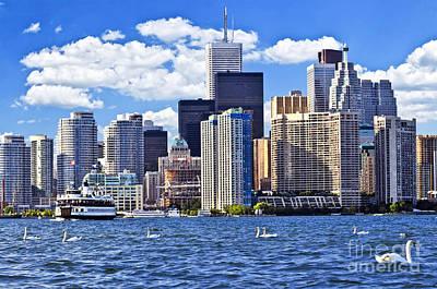 Animals Photos - Toronto waterfront by Elena Elisseeva