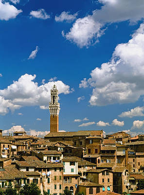 Torre De Mangia And Siena Skyline Art Print by Axiom Photographic
