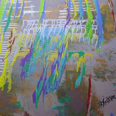 Painting - Torrential  Abstract by Lisa Kramer